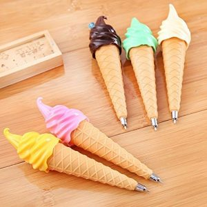 ice cream cone push pen in different colours