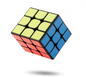 rubik's cube image of different colours and pattern