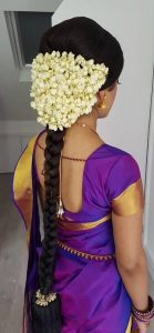 South Indian Bridal Hairstyles_simple
