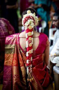 South Indian Bridal Hairstyles_Satin ornament_jada