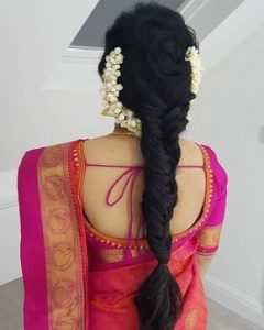 South Indian Bridal Hairstyles_fish braid