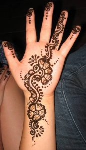 mehendi designs for kids _ palm moderate flower