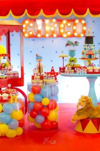 Circus Theme Birthday Party - Backdrop