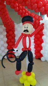 Circus Themed Birthday Party Ballon Man