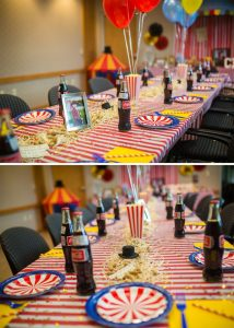 Circus Themed Birthday Party Table