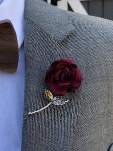 Rose Flower Red Lapel Pin