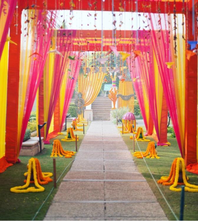 South Indian Wedding Entrance Décor 1