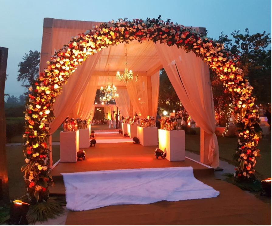 South Indian Wedding Entrance Décor 2