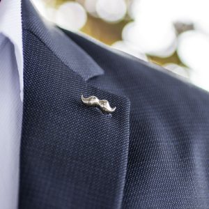 Stached SIlver Lapel Pin