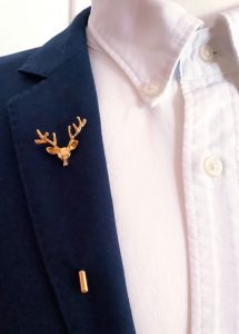 Stag Tie Lapel Pins