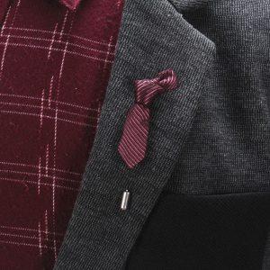 Tie shaped lapel pin