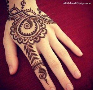 mehendi designs for kids _ back elaborate arabic