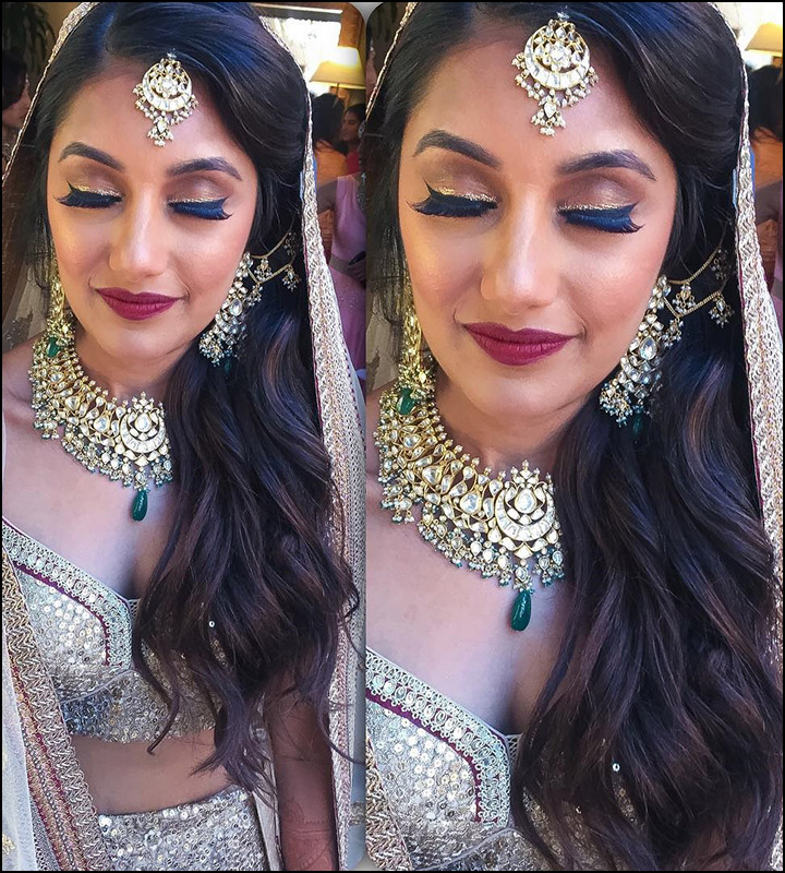 Bridal Look for Oval Face