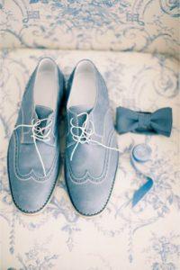 Groom Shoes Blue Shoes