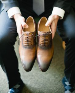 Groom Shoes Brown