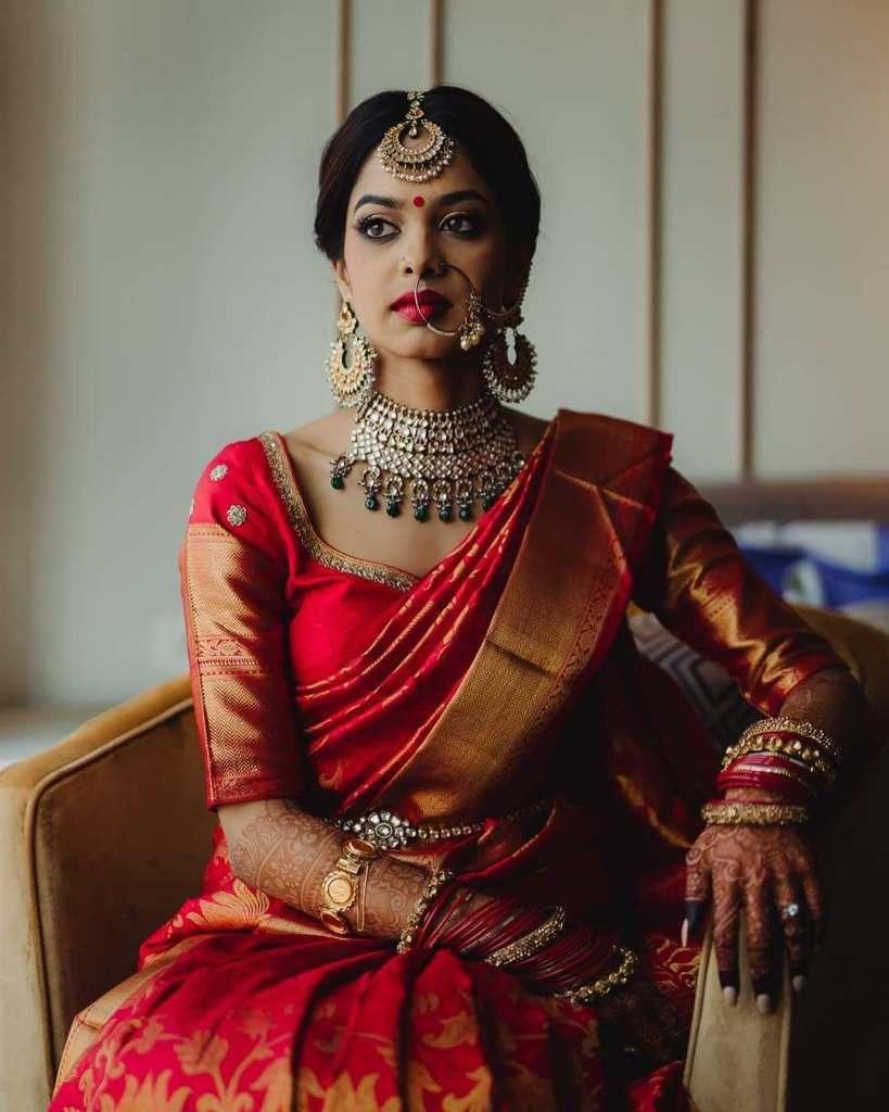 Kanjeevaram South Bridal Look 1