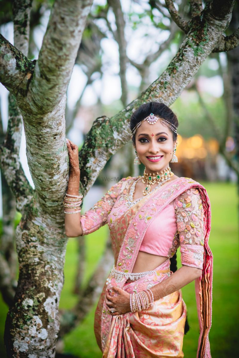 South Indian Bridal Saree Look 1