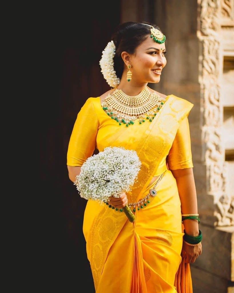 South Indian Bridal Saree Look 2
