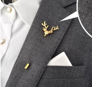 Suit Brooch Deer Leaves