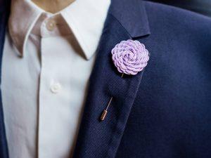 Suit Brooch Flower