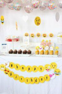 Birthday Theme For Girls - Emoji