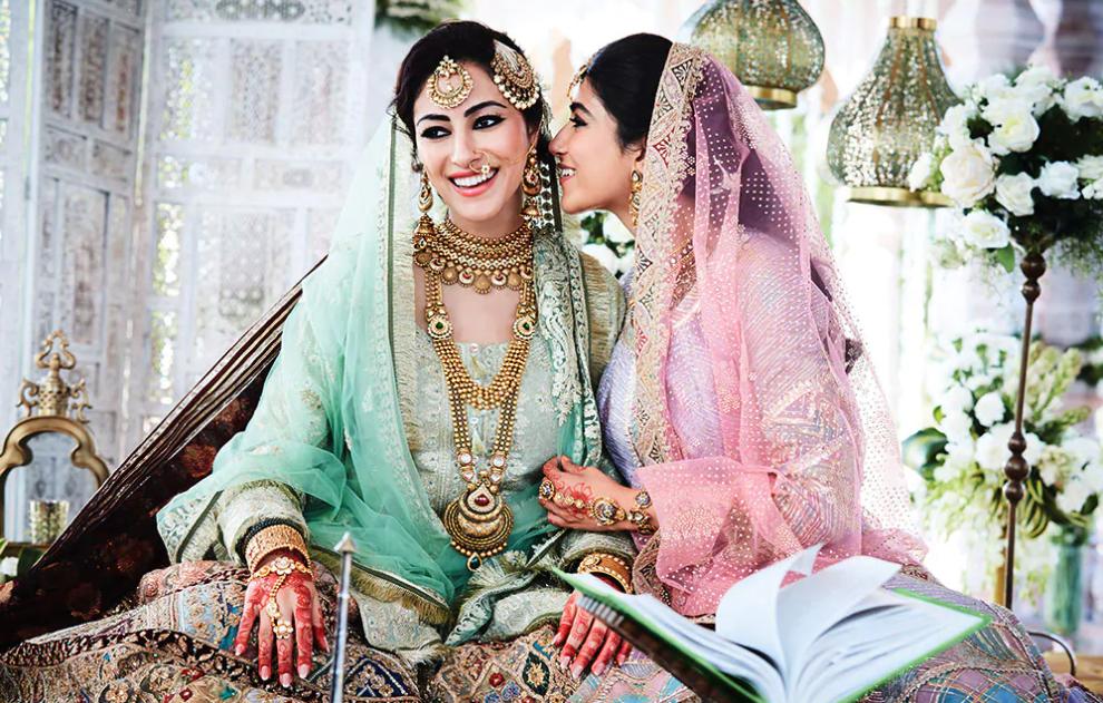 A bride flaunting her Muslim Bridal Jewellery