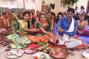 Gujarati wedding mameru Rajasthani Couple