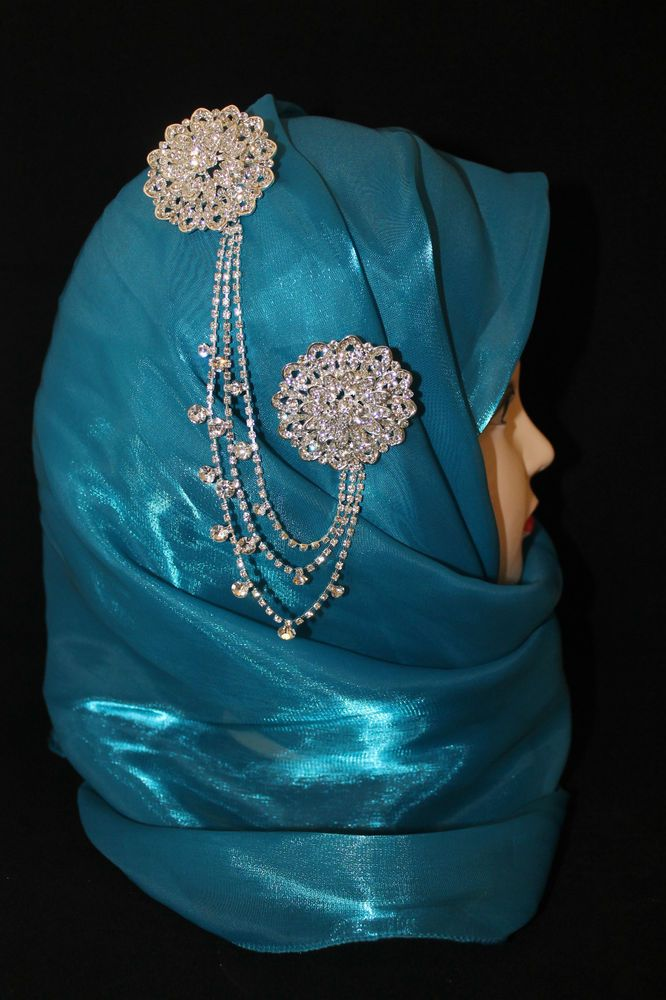 Hijab Pin bridal set accentuates your hijab and gives a whole new look to your bridal outfit.