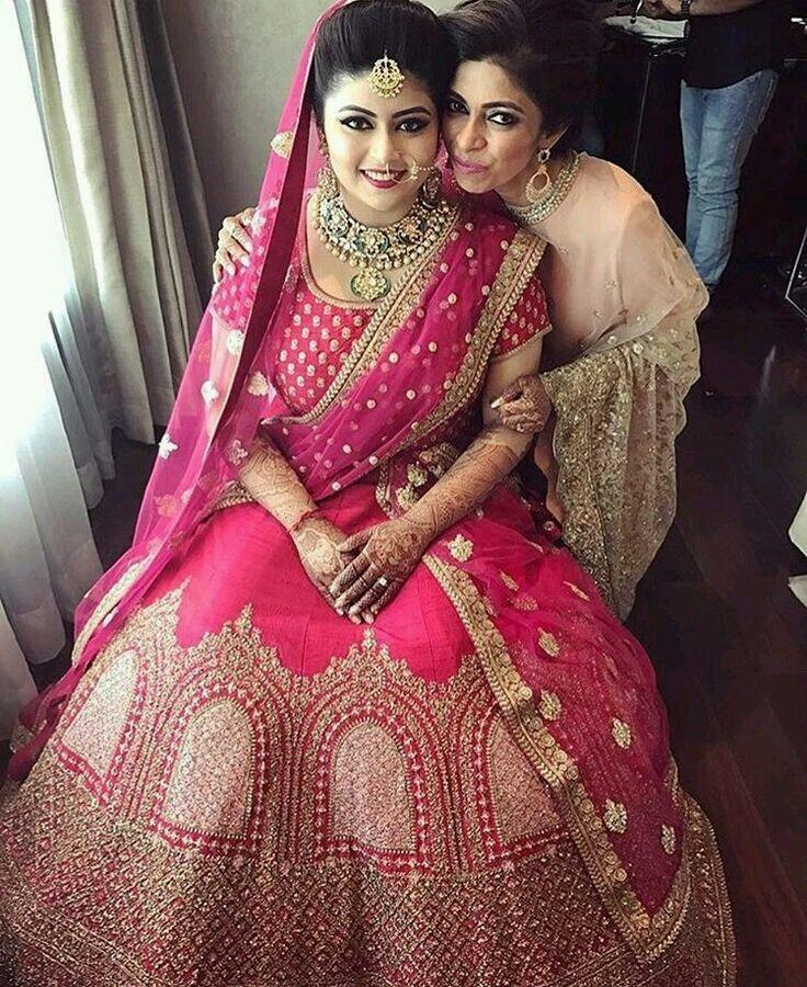 Pink Velvet Bridal Lehenga