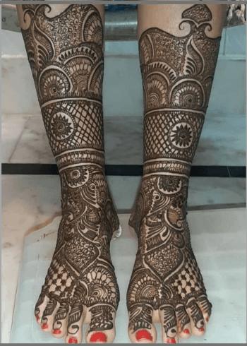 Shaded Bridal Leg Design