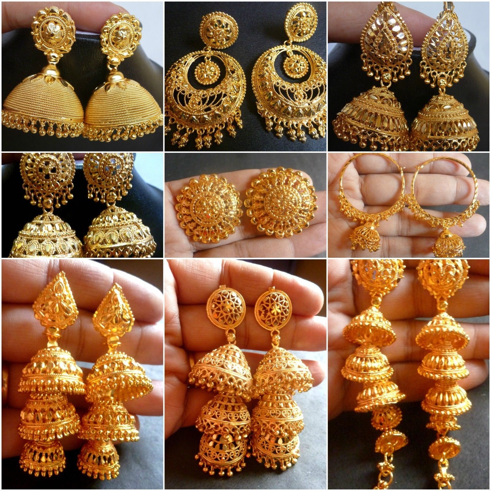 Take a look at the Muslim bridal collection of earrings.