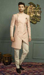 Kurtas For Men - Pink Color Jacquard