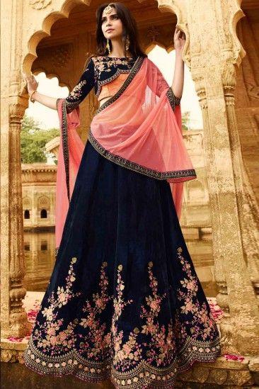 Velvet Bridal Lehenga Designs