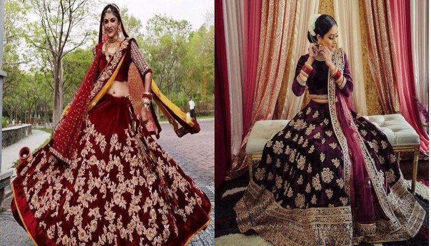 Velvet Bridal Lehenga Featured Image