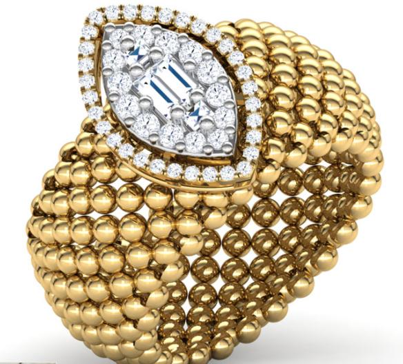 Marquise Granular Ring