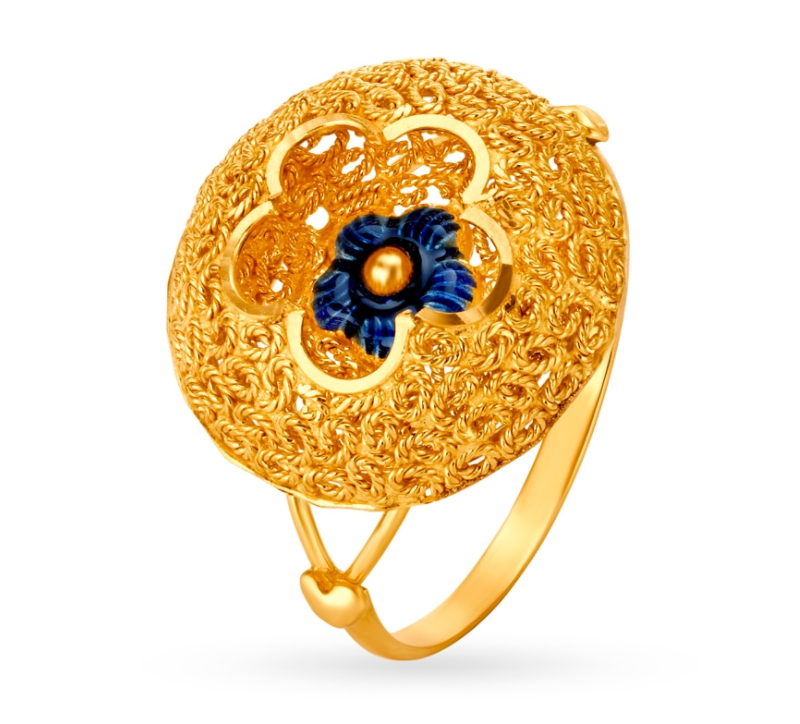 Ornate Cocktail Gold Ring