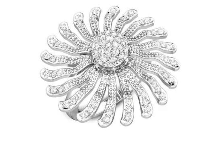 Platinum and Zirconia Ring