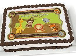 Baby Shower Cake Ideas- Animal Cartoon