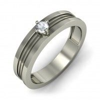 Blue stone Silver Engagement Ring Designs for Male - 10