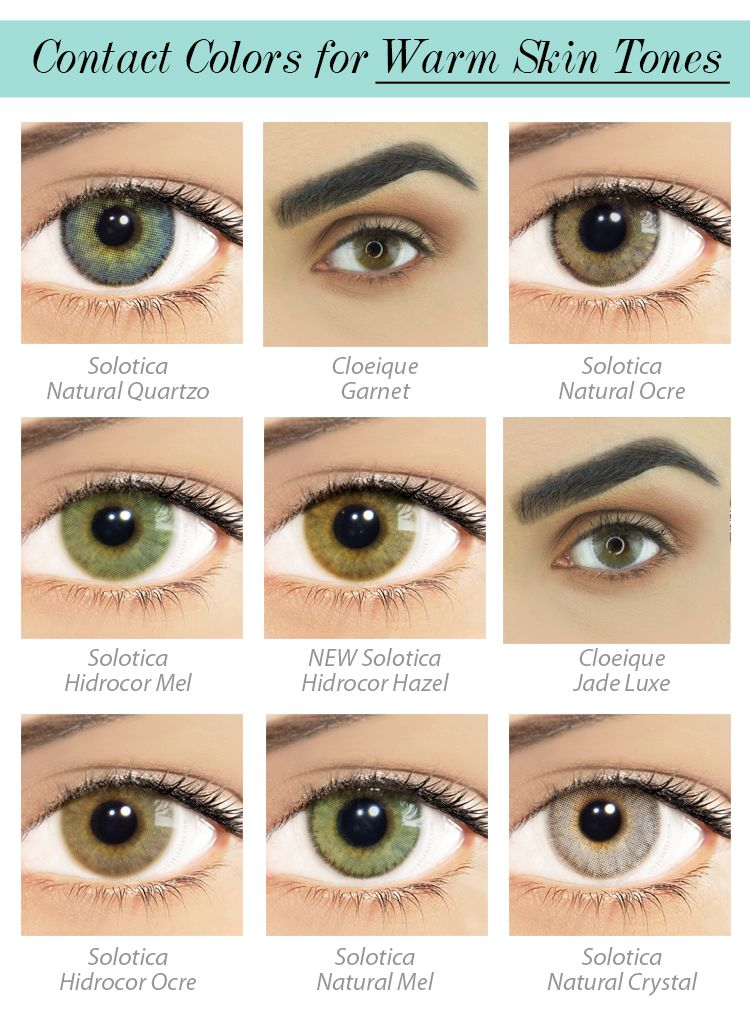 Contact Lens for Warm Skin Tone