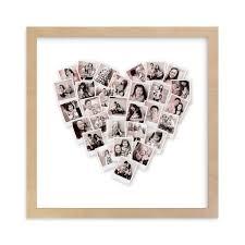 Engagement Gift Ideas - Heart Snapshot Mix Photo Art