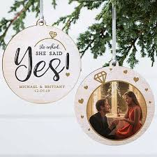 Engagement Gift Ideas - Personalised Ornament