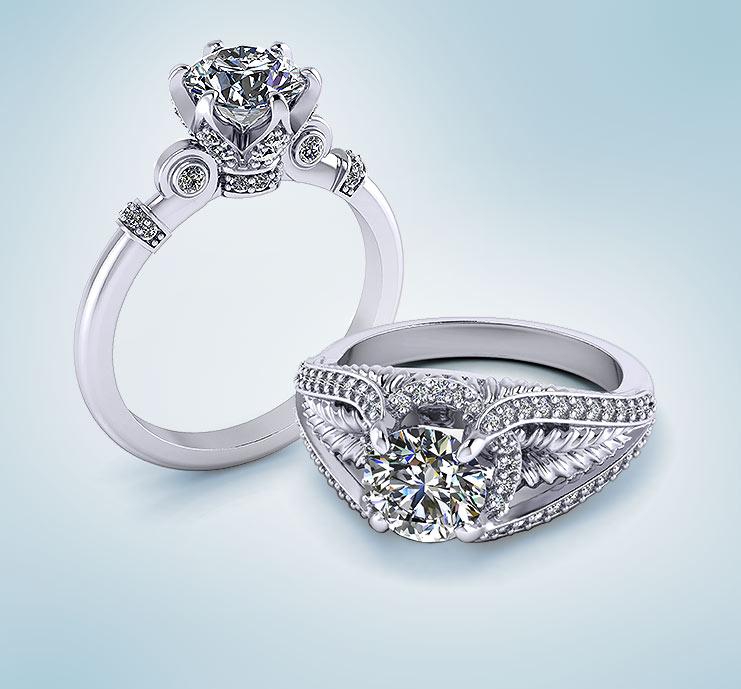 Platinum Unique Engagement Rings