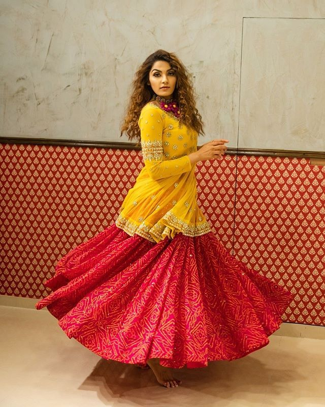 Red Haldi Dress