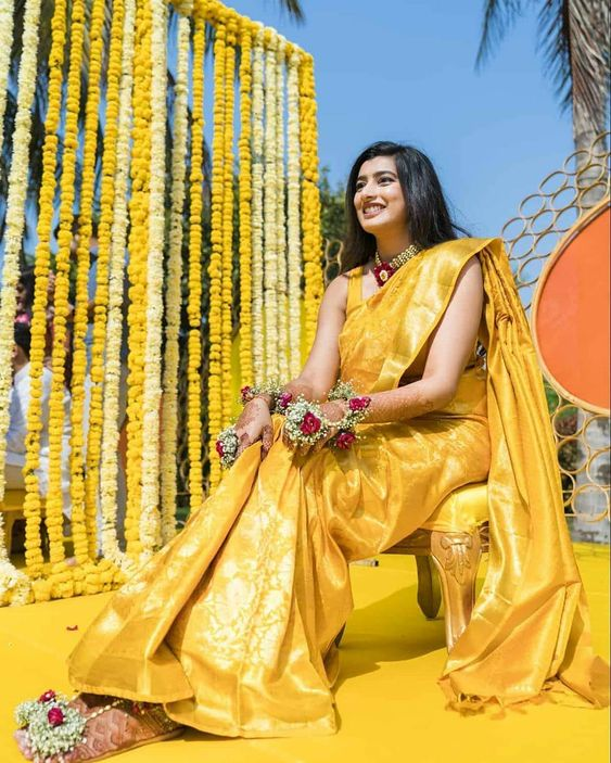 Saree Look for Haldi