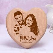 Valentine's Day Gifts - Heart Shaped Wooden Photo Frame