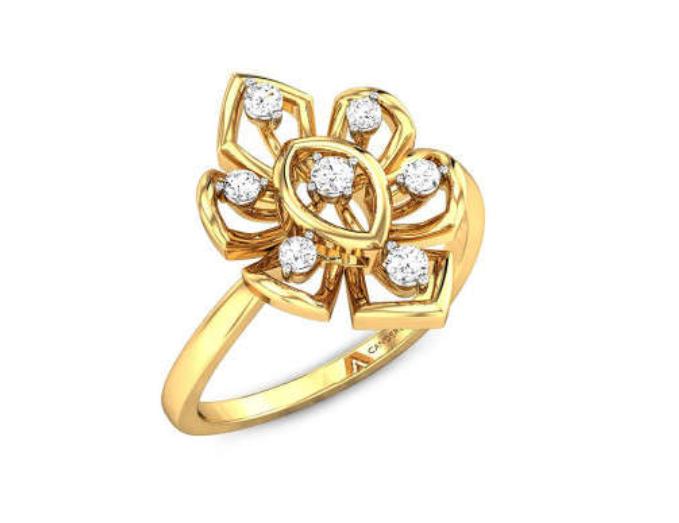 Flower Based Gold Ring Design
