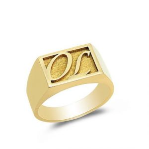 Gold initial ring Engagement Ring Designs for Male - 20