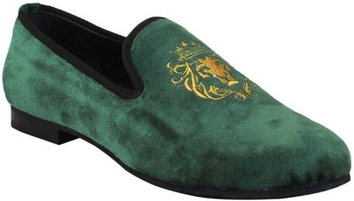 Bare Skin Velvet Loafers