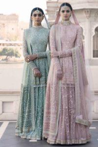 Full Length Peplum Bridal Lehenga Designs